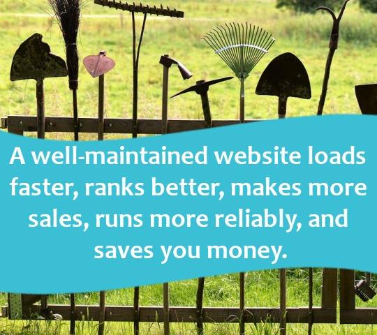 websites are like gardens