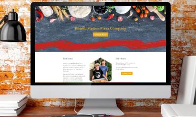 desktop screen showing new website