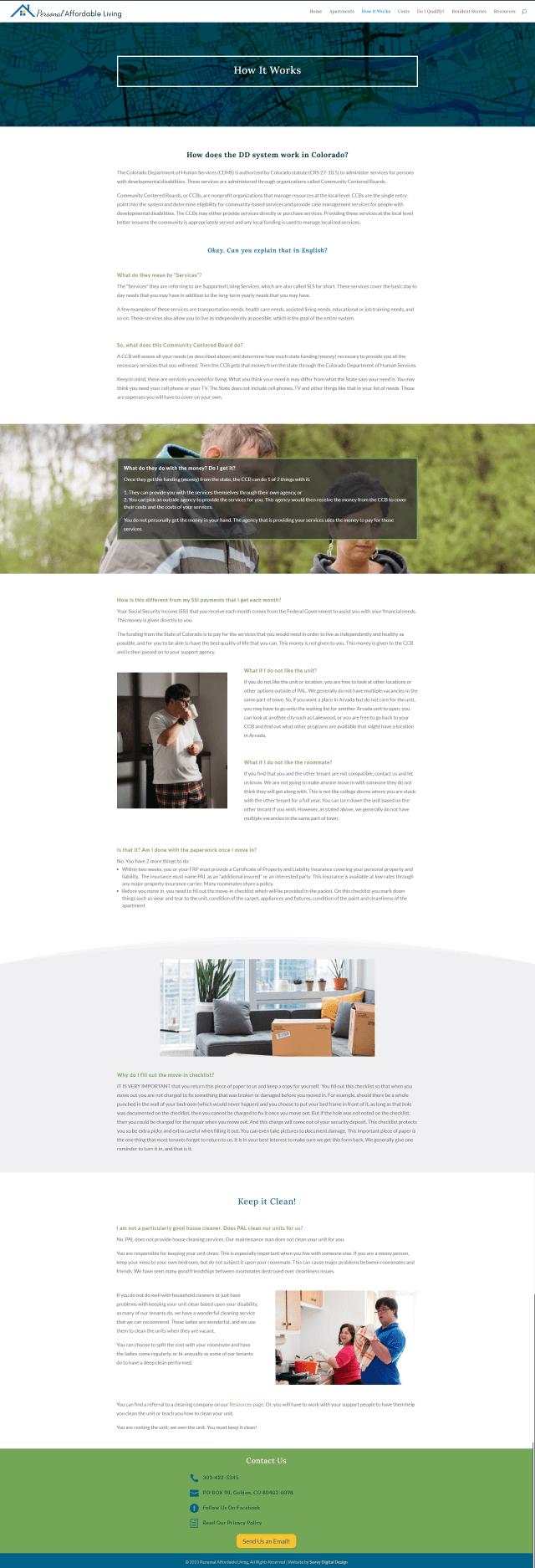 screenshot of PAL website page 2
